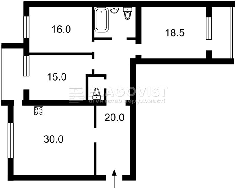 Квартира D-33207, Вишгородська, 45/2, Київ - Фото 5