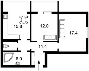 Квартира Григоренко Петра просп., 3а, Киев, Z-435374 - Фото2