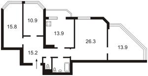 Квартира Коновальца Евгения (Щорса), 32б, Киев, Z-430588 - Фото2