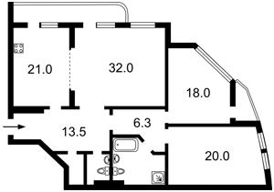 Квартира Коновальца Евгения (Щорса), 36б, Киев, Z-448152 - Фото2