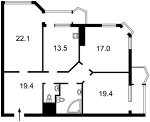 Квартира Кудряшова, 20г, Киев, Z-431649 - Фото2