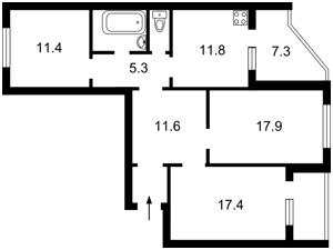 Apartment Liskivska, 22, Kyiv, Z-437111 - Photo2