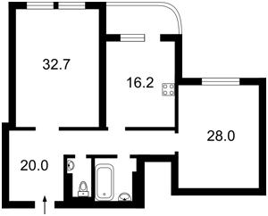 Квартира Ахматовой, 13, Киев, Z-445929 - Фото2