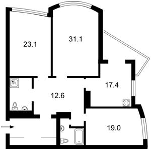 Квартира Героев Сталинграда просп., 12ж, Киев, Z-1195709 - Фото2