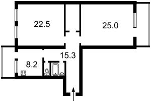 Квартира Хмельницького Богдана, 62б, Київ, E-9552 - Фото2