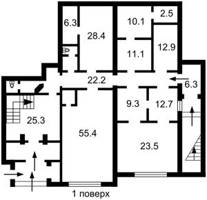 Офіс, Бехтеревський пров., Київ, P-24709 - Фото2