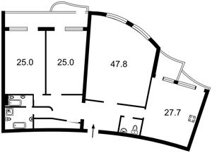 Квартира Мельникова, 18б, Київ, F-40944 - Фото 2