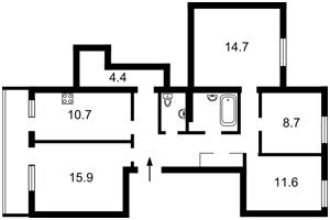 Квартира Болбочана Петра (Каменєва Командарма), 4а, Київ, F-40891 - Фото2