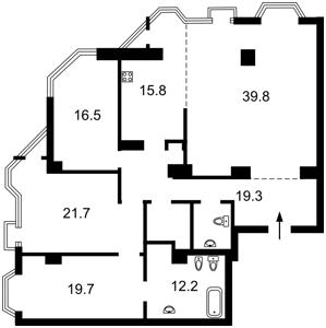 Квартира Кловський узвіз, 5, Київ, B-97548 - Фото2