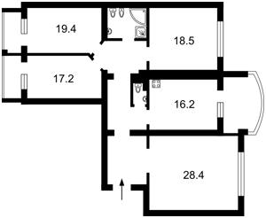 Квартира Героев Сталинграда просп., 4 корпус 4, Киев, Z-670057 - Фото2
