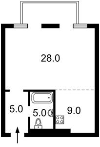 Квартира Оболонський просп., 1 корпус 1, Київ, Z-459155 - Фото2