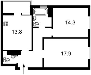 Квартира Панельная, 7, Киев, Z-439798 - Фото2