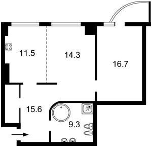 Квартира Оболонская набережная, 1 корпус 1, Киев, Z-1307228 - Фото2