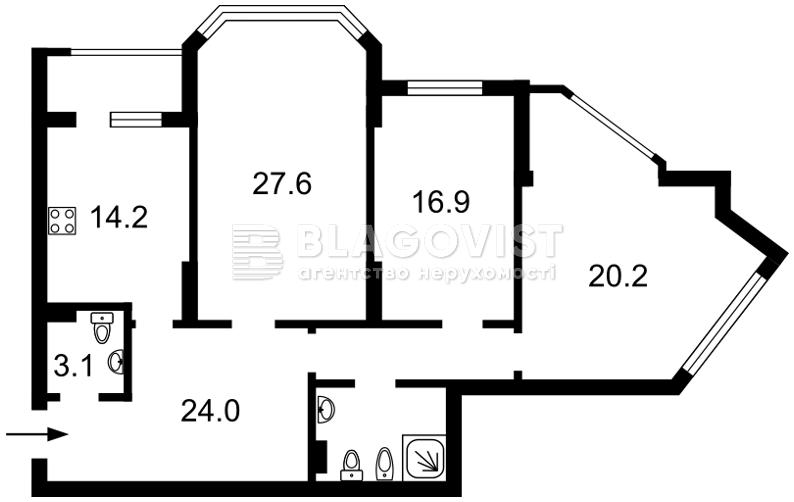 Квартира F-40740, Чавдар Елизаветы, 13, Киев - Фото 8