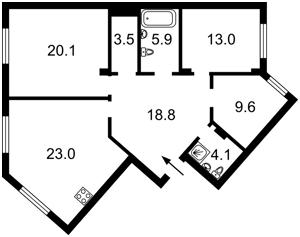 Квартира Вышгородская, 45, Киев, M-34285 - Фото2