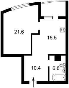 Квартира Ушакова Николая, 1д, Киев, Z-458185 - Фото2
