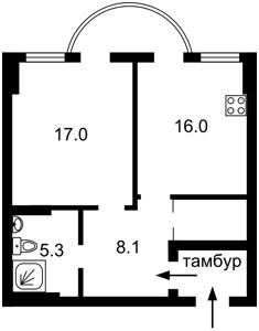 Квартира Ернста, 16а, Київ, F-40938 - Фото 2