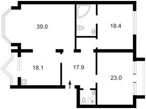 Квартира Гончара О., 26, Київ, Z-442132 - Фото2