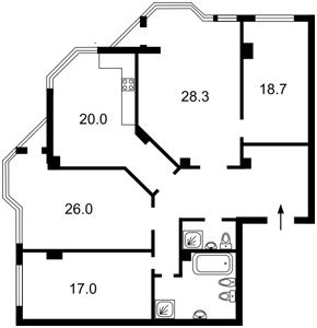 Apartment Klovskyi uzviz, 5, Kyiv, Z-439402 - Photo2