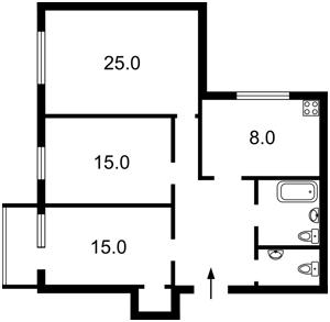 Apartment Dovnar-Zapolskoho Mytrofana, 4, Kyiv, R-29741 - Photo2