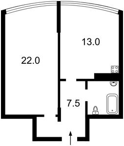 Квартира Героев Сталинграда просп., 8а, Киев, Z-1167341 - Фото2