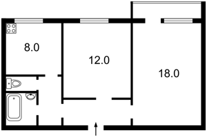 Квартира Героев Днепра, 34б, Киев, Z-376537 - Фото2