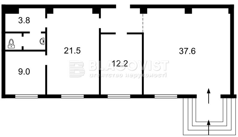 Нежилое помещение, E-38099, Выборгская, Киев - Фото 3