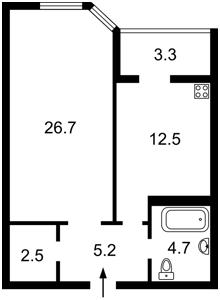 Квартира Коновальца Евгения (Щорса), 34а, Киев, R-23485 - Фото2