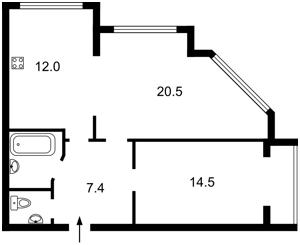 Квартира Большая Китаевская, 53, Киев, Z-64175 - Фото2