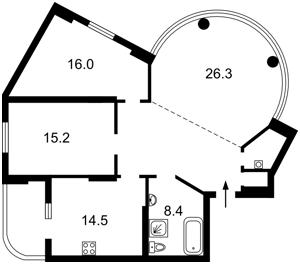 Квартира Черновола Вячеслава, 27, Киев, Z-497426 - Фото2