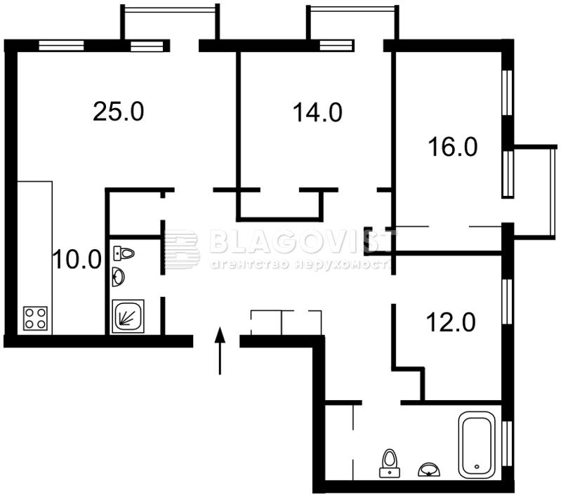 Квартира D-34652, Волоська, 18, Київ - Фото 2