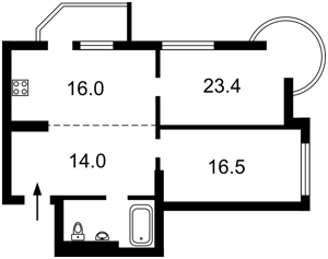 Квартира Голосіївський проспект (40-річчя Жовтня просп.), 30б, Київ, Z-1768182 - Фото2