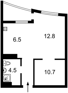 Квартира Оболонский просп., 1 корпус 1, Киев, Z-448272 - Фото2