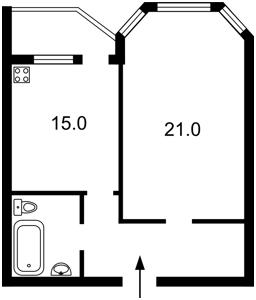 Квартира Княжий Затон, 4, Киев, Z-1780143 - Фото2