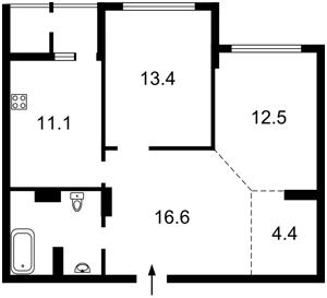 Квартира Бендукідзе Кахи, 2, Київ, Z-485559 - Фото 2