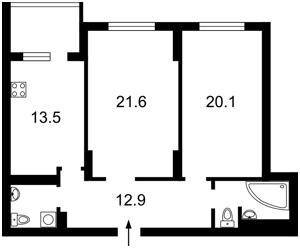 Квартира Хоткевича Гната (Червоногвардійська), 12, Київ, Z-367489 - Фото2