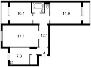 Квартира Тростянецька, 8в, Київ, Z-378422 - Фото 2