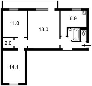 Квартира Большая Васильковская, 102, Киев, R-21255 - Фото2