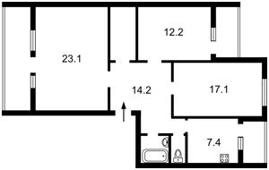 Квартира Героев Сталинграда просп., 14б, Киев, Z-490593 - Фото2