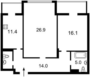 Квартира Коновальця Євгена (Щорса), 36е, Київ, Z-458272 - Фото 2