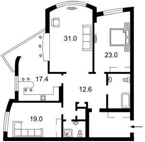 Квартира Героев Сталинграда просп., 12е, Киев, Z-1834393 - Фото2