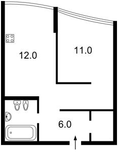 Квартира Вышгородская, 45, Киев, Z-1275936 - Фото2