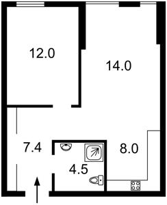 Квартира Регенераторна, 4 корпус 14, Київ, R-23709 - Фото2