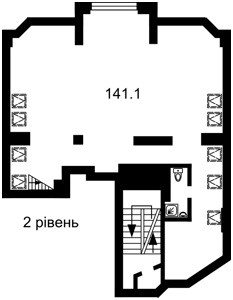 Офис, Хмельницкого Богдана, Киев, F-41201 - Фото 3