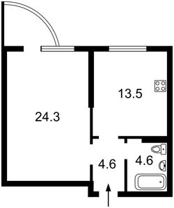 Квартира Вильямса Академика, 3а, Киев, Z-494212 - Фото2