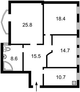 Квартира Павловская, 26/41, Киев, Z-480576 - Фото2