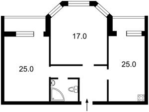 Квартира Щербаківського Данила (Щербакова), 42, Київ, Z-497263 - Фото2