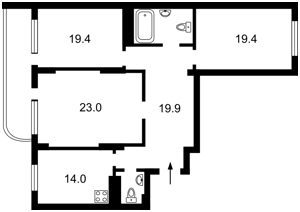 Квартира Ахматовой, 13, Киев, Z-472199 - Фото2