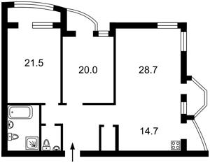 Квартира Львовская, 22, Киев, X-12846 - Фото2