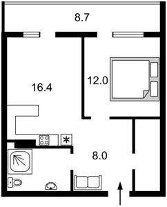 Квартира Липківського Василя (Урицького), 37б, Київ, F-41241 - Фото 2